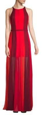 Halston Vertical Stripe Gown