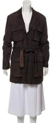 Armani Collezioni Leather Short Coat