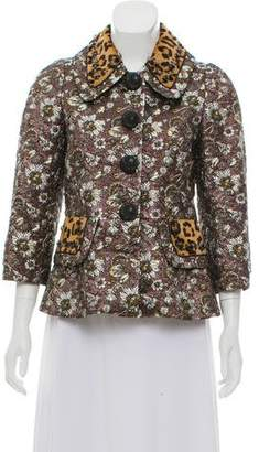 Marc Jacobs Animal Print Brocade Jacket w/ Tags