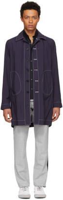 M·A·C Daniel W. Fletcher Navy Lightweight Tailored Mac Coat