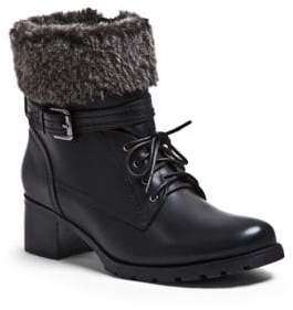 Blondo Wool-Trimmed Leather Ankle Boots