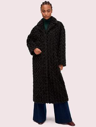 Kate Spade Textured Curly Coat, Deep Spruce - Size L