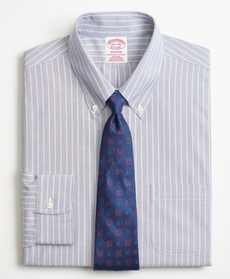 Brooks Brothers Madison Classic-Fit Dress Shirt, Non-Iron Double Stripe