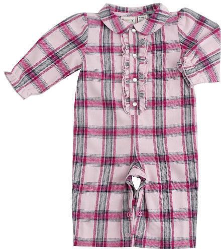 Babies R Us Cynthia Rowley Pretty in Plaid Coveralll - Pink (12 Months)