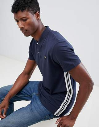 Jack and Jones Core Polo Shirt With Side Tape And Chest Branding