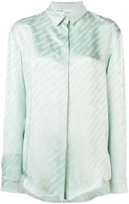 Off-White logo stripe shirt