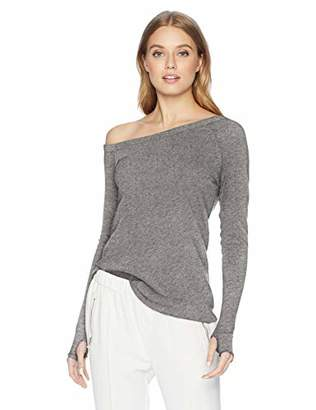Enza Costa Women's Cashmere Off Shoulder Long Sleeve Top,M
