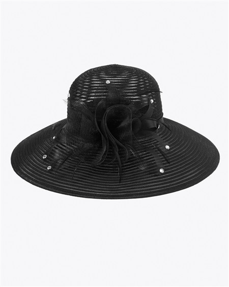 Feather-Bloom Derby Hat