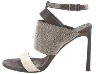 Brunello Cucinelli Monili Ankle Strap Sandals