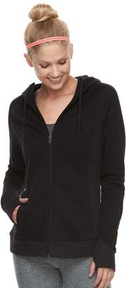 Tek Gear Women's Fleece Hooded Thumb Hole Jacket