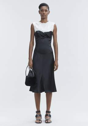 Alexander Wang SATIN TWISTED CUP DRESS Long Dress