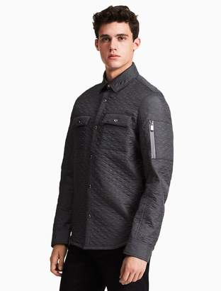 Calvin Klein quilted shirt jacket