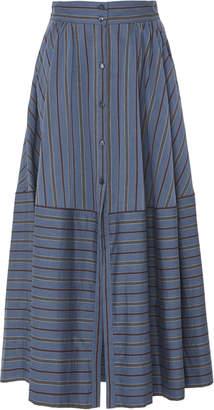 Temperley London Nori Striped Cotton Skirt