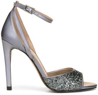 Donald J Pliner GAIL, Glitter and Metallic Leather Heeled Sandal