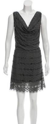 Calypso Cowl Neck Knee-Length Dress