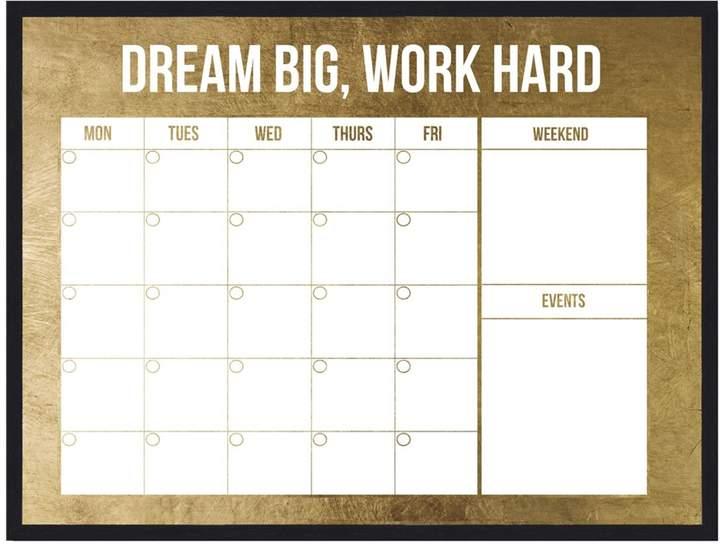 Oliver Gal Monthly Calendar (Framed Whiteboard)