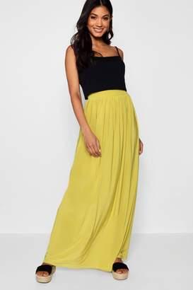 boohoo Slinky Floor Sweeping Maxi Skirt
