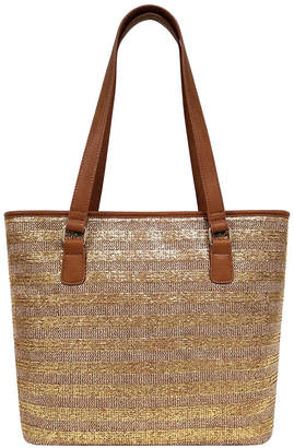 ST. JOHN'S BAY Metallic Straw Tote Bag