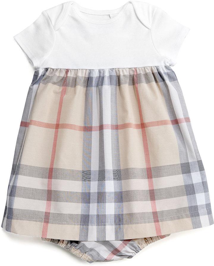Burberry Knit/Check Combo Dress