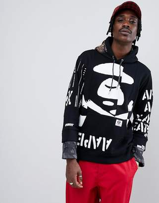 A Bathing Ape AAPE BY AAPE By Hoodie With Contrast Print Placement