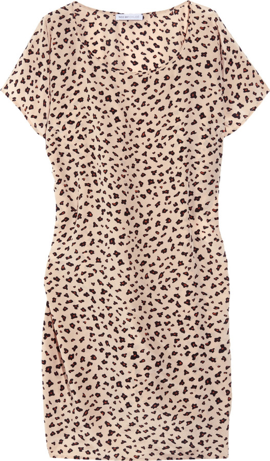 See by Chloé Printed silk dress