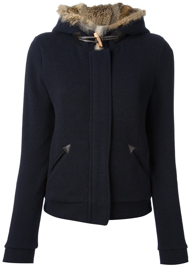 Woolrich fur trimmed hooded sweater