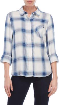 Tommy Hilfiger Roll Sleeve Plaid Shirt