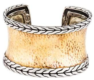 John Hardy Two-Tone Classic Chain Hammered Cuff