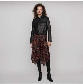 Maje Buttoned Leather Jacket