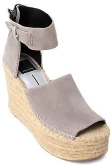 Dolce Vita Women's Straw Suede Platform Wedge Espadrille Sandals
