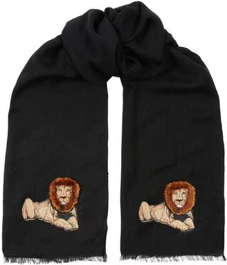 Paul Smith Embroidered Lion Scarf