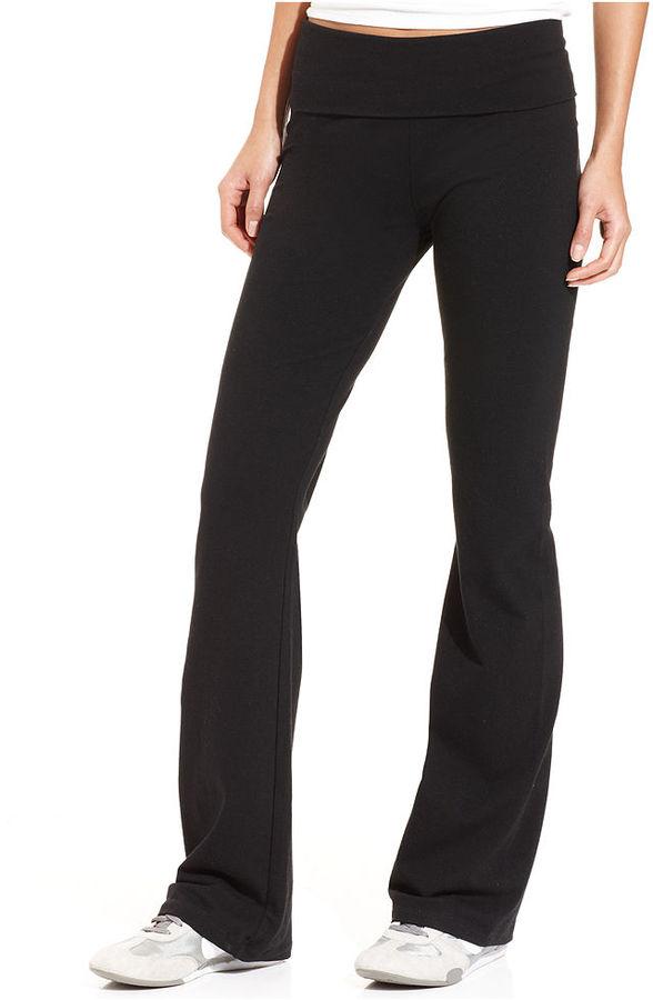 Calvin Klein Yoga Pants, Bootcut Foldover Active