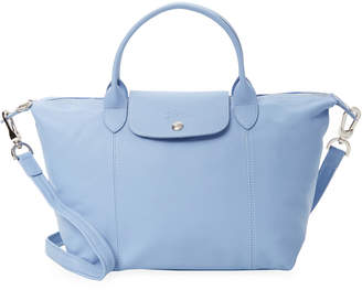 Longchamp Le Pliage Cuir Leather Small Top Handle Tote