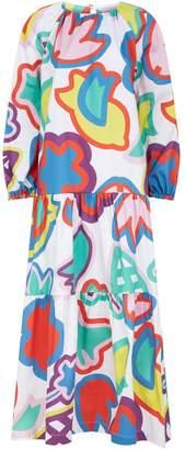Mira Mikati Flower Print Tiered Dress