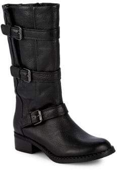Kenneth Cole Gentle Souls by Best Three-Buckle Leather Boots