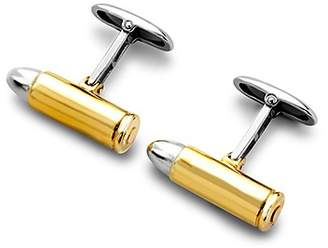 Aspinal of London Sterling Silver Gold Plated Bullet Cufflinks