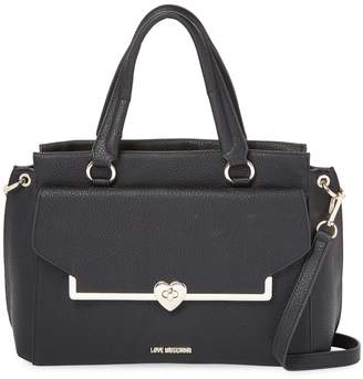 Love Moschino Women's Solid Leather Satchel