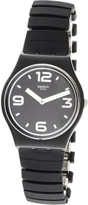 Swatch Blackhot GB299B Black Stainless-Steel Swiss Quartz Fashion Watch
