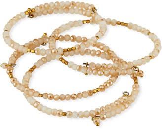 Panacea White Crystal Bracelets, Set of 4