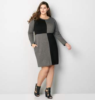 Avenue Colorblock French Terry Dress