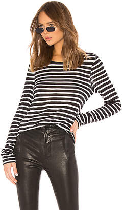 Alexander Wang Wide Striped Long Sleeve Tee