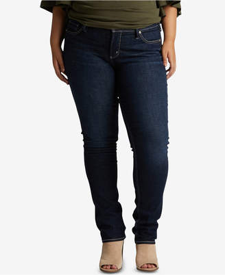 Silver Jeans Co. Plus Size Elyse Straight-Leg Jeans