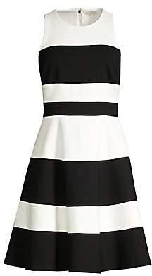 Kate Spade Women's Stripe Ponte A-Line Dress