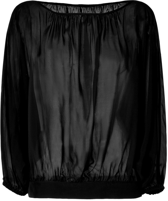 Marc by Marc Jacobs Black Silk Voile Top
