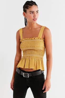 Urban Outfitters Smocked Square-Neck Cami