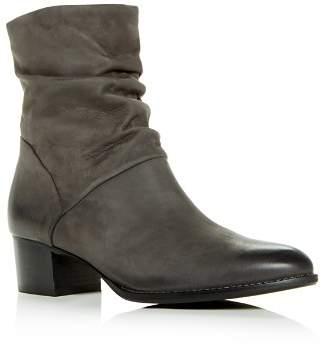 Paul Green Women's Tanner Nubuck Leather Slouch Block-Heel Booties