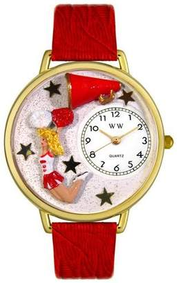 Whimsical Watches Unisex G0820015 Cheerleader Red Leather Watch