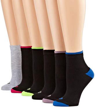 Xersion 6 Pair Quarter Socks - Extended sizes