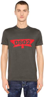DSQUARED2 Dsq2 Printed Cotton Jersey T-Shirt