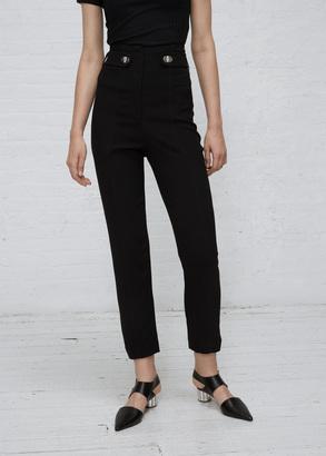 Proenza Schouler black pencil leg pant $895 thestylecure.com